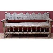 Mexican Antique Bench By Christie
