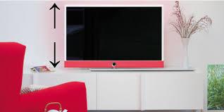 in welcher höhe sollte der tv bildschirm platziert sein