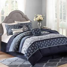 Macys Headboards And Frames by Bedroom Coloful Paisley Bedding With White Rug And Tufted