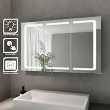 details zu led spiegelschrank 3türig badezimmerspiegel badschrank mit beleuchtung steckdose