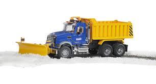 Bruder Toys MACK Granite Dump Truck With Snow Plow Blade - Walmart.com