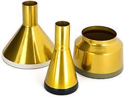 one couture dekoration vase töpfe gold deko metallvase 3er set wohnzimmer petrol gold weiß grün grau 8cm 9cm 15 cm x 8cm 9cm 15 cm x