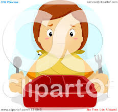 Cartoon A Boy With An Empty Lunch Box Royalty Free Vector