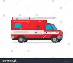 Royalty Free Stock Illustration Of Fire Truck Illustration Flat ...