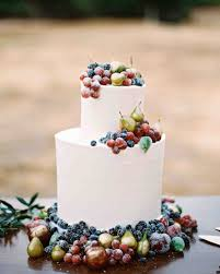 Wedding Cake With Berries Grapes Figs And Pears
