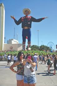 Snap A Selfie With Big Tex He Made His Debut At The 1952 Fair After Starting Life As Gigantic Santa Claus Figure Western Garb Is Sewn