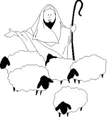 Virtual Church Kids Jesus Good Shepherd Colouring Pages