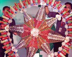 The Ingenuity Behind Parol Making Was Done By Recycled Materials Like Plastic Bottles Soda Can Spoon And Fork Etc