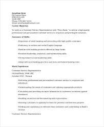 Retail Banking Customer Service Resume