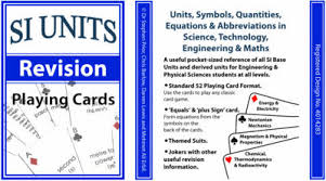 SI Units Revision Playing Cards