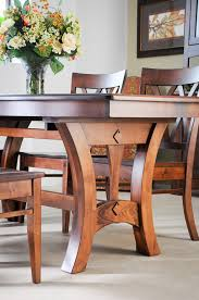 Gather The Family Around This Magnificent Solid Maple Dining Table With Two Leaf Extensions Expertly Crafted By Indiana Amish Builders
