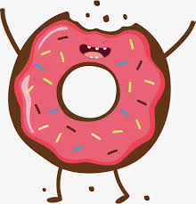 Pink Donut Vector Donuts Food Hand Painted PNG And