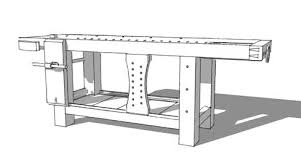 woodworking plans workbench with sketchup