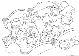 Cute Hamsters Sleeping 6e0c Coloring Pages