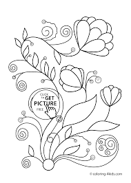 Spring Flowers Coloring Pages For Kids Printable Free