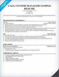 Call Center Supervisor Resume Awesome Examples Unique 15 Beautiful