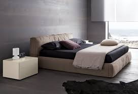 Lacquered Made in Italy Nano Fabric Elite Platform Bed with Padded