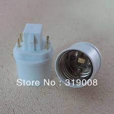 2018 led ls socket g24q to e26 bulb adapter 4pin gx24q to e26