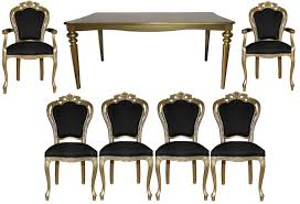 Casa Padrino Baroque Luxury Dining Room Set Black / Gold - Baroque ... Vig Fniture Modrest Kingsley Modern Black Rose Gold Ding Chair Of America Duarte Iii Crocodile Textured Zuo Elio Set 2 Antique Sets Glass Tops Bases Chairs Frame Pedestal Vintage European And Round Table Beautiful Leopard Print 6 Room Wooden Best Of 25 With Legs Ideas Design 100 Transformed Reality Daydream Meridian Karina The Classy Home Inspirational 50 And Dcor Inspiration For New Years Eve Nage Designs Patings On Blue Wall Gold Clock In Modern Ding Room