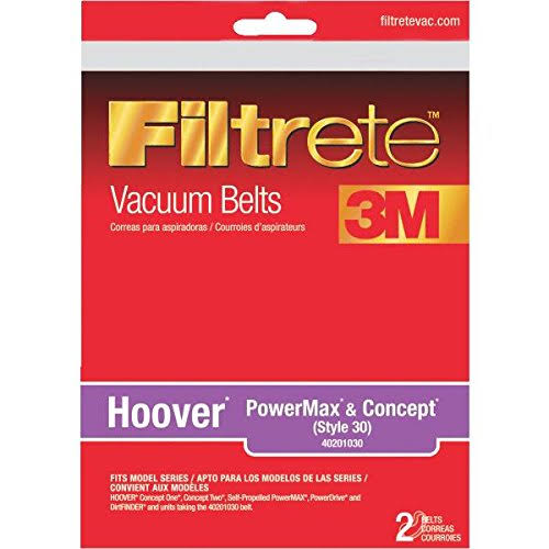 3M Filtrete Hoover PowerMax and Concept Vacuum Belt - Style 30, 2 Pack