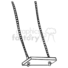 Royalty Free A black and white swinging swing vector clip