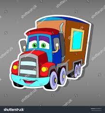 100 Big Truck Paper Cartoon Car Sticker Boys Vector Stock Vector Royalty Free