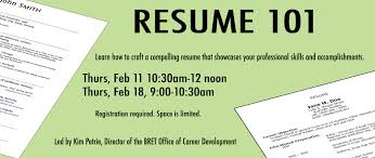 Resume 101 Is Back For 2016! | BRET Career Development ASPIRE ... Resume 101 A Student And Recentgrad Guide To Crafting Rumes Up Career Center Youtube Resume Workshop Postpng Arizonawork Prep Zelienople Area Public Library Empowerment Workshops In Mhattan Rsum 17 Jan 2019 Job Searching Writing A Killer Resume Careers In Nonprofits Please Consider Attending The Event Hosted By Our Very Examples Examples Rumeexamples Cover Why We Prefer Pdf Is Back For 2016 Bret Development Aspire Spanish Templates Viaweb Co Cv 40269 70 Unique Photos Of Samples Jobs Australia
