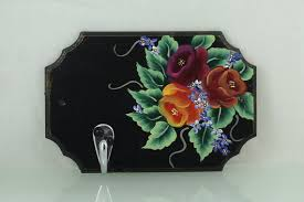 Decorative Key Holder For Wall by Flowers Key Holder Wall Key Holder Key Chain Holder Home