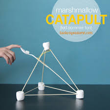 Catapult DIY Easy Kid Actvity Marshmallow