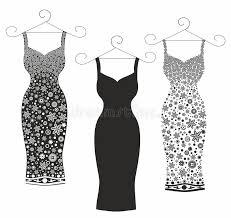 Download Beautiful Vector IllustrationWomens Dresses Stock