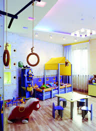 Childrens Room Interior Images Two Beds In One Small Design Fun Bedroom Decorating Ideas Boy Paint