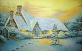 Thomas Kinkade Christmas Tree Uk painting christmas tree christmas lights decoration