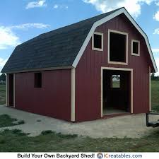 10 X 16 Shed Plans Gambrel by 16 24 Gambrel Barn Shed Plans Icreatables