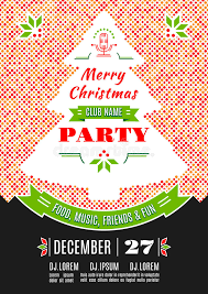 Download Christmas Party Poster Design Vector Abstract Background Stock