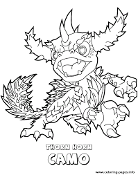 Skylanders Swap Force Thorn Horn Camo Coloring Pages