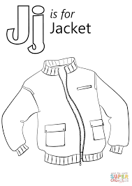 Click The Letter J Is For Jacket Coloring Pages