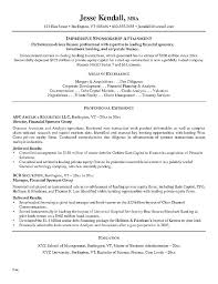 Investment Banking Analyst Resume Example Personal Best Banker Template Templa