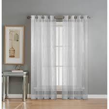 Geometric Pattern Sheer Curtains by Window Elements Sheer Diamante Cotton Blend Burnout Sheer 84 In L