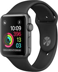 Apple Help Desk India by Apple Watch Series 2 42 Mm Space Gray Aluminum Case With Black