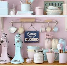 Pink And Blue Kitchen Decor Home Accessory Pastel Interior Designing