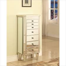Powell Mirrored Jewelry Armoire with Silver Wood 233 314