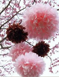 Tissue Paper Crafts Pompoms Pink Decoration For Wedding 12 Inch30cm 40piece Lot Diy Flower Balls In Artificial Dried Flowers From Home Garden On