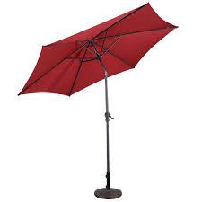 Walmart Patio Tilt Umbrellas by 10 Ft 6 Ribs Patio Umbrella With Crank Outdoor Umbrellas