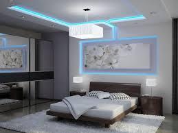 indirekte led deckenbeleuchtung schlafzimmer blau weiß