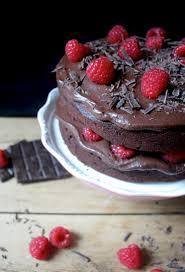 Chocolate and Raspberry Cake vegan gluten free & dairy free