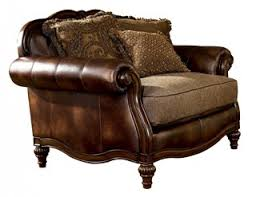 Claremore Sofa And Loveseat by Claremore Traditional Antique Fabric Chair And A Half Living