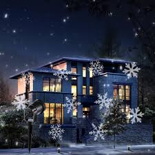 LED Snowflake Effect Lights Outdoor Christmas Light Projector