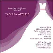 purple bridal shower invitation clipart