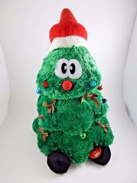Singing Christmas Tree Plush Stands Sound N Lights Dances On Off Switch Jingles