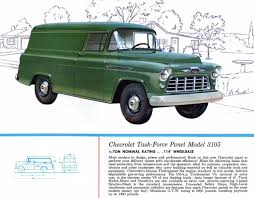 1956 Chevrolet Task Force Panel Trucks Brochure Photo Picture